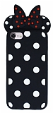 iPhone 7 / 8 Fiyonklu Siyah Silikon Kılıf