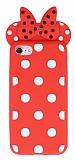 iPhone 7 / 8 Fiyonklu Kırmızı Silikon Kılıf