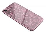 iPhone 7 / 8 Granit Desenli Pembe Rubber Kılıf