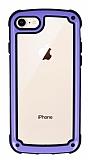 iPhone 7 / 8 Jelly Bumper Şeffaf Ultra Koruma Mor Kılıf