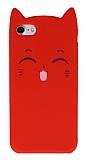 iPhone 7 / 8 Kedili Kırmızı Silikon Kılıf