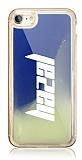 iPhone 7 / 8 Kişiye Özel Neon Kumlu Mavi Silikon Kılıf