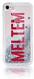 iPhone 7 / 8 Kişiye Özel Simli Sulu Silver Rubber Kılıf