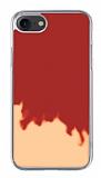 iPhone 7 / 8 Neon Kumlu Kırmızı Silikon Kılıf
