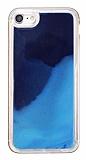 iPhone 7 / 8 Neon Kumlu Lacivert Silikon Kılıf