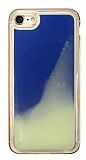 iPhone 7 / 8 Neon Kumlu Mavi Silikon Kılıf