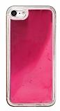 iPhone 7 / 8 Neon Kumlu Pembe Silikon Kılıf