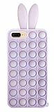 iPhone 7 Plus / 8 Plus Push Pop Bubble Tavşan Mor Silikon Kılıf