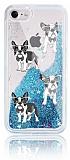 iPhone 7 / 8 Simli Sulu Köpek Resimli Mavi Silikon Kılıf
