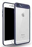 Eiroo Cam Hybrid iPhone 7 Kamera Korumalı Lacivert Kenarlı Rubber Kılıf