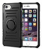iPhone 7 Kol Bandı Özellikli Ultra Koruma Siyah Kılıf