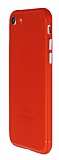 iPhone 7 Metal Tuşlu Mat Kırmızı Silikon Kılıf