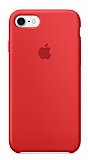 iPhone 7 Orjinal Kırmızı Silikon Kılıf