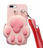 iPhone 7 Plus / 8 Plus Cüzdanlı Boyun Askılı Pati Kılıf