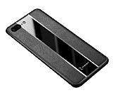 Zebana iPhone 7 Plus / 8 Plus Premium Siyah Deri Kılıf