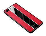 Zebana iPhone 7 Plus / 8 Plus Premium Kırmızı Deri Kılıf