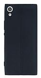 Sony Xperia XA1 Deri Desenli Ultra İnce Siyah Silikon Kılıf