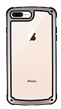 iPhone 7 Plus / 8 Plus Jelly Bumper Şeffaf Ultra Koruma Rose Gold Kılıf