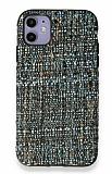iPhone 11 Mavi Kumaş Silikon Kılıf