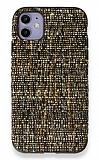 iPhone 11 Kahverengi Kumaş Silikon Kılıf