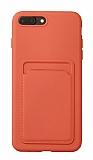 iPhone 7 Plus / 8 Plus Kartlıklı Turuncu Kılıf