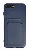 iPhone 7 Plus / 8 Plus Kartlıklı Lacivert Kılıf