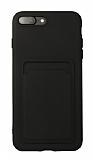 iPhone 7 Plus / 8 Plus Kartlıklı Siyah Kılıf