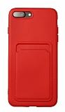 iPhone 7 Plus / 8 Plus Kartlıklı Kırmızı Kılıf