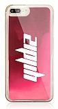 iPhone 7 Plus / 8 Plus Kişiye Özel Neon Kumlu Pembe Silikon Kılıf