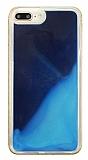 iPhone 7 Plus / 8 Plus Neon Kumlu Lacivert Silikon Kılıf
