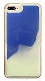 iPhone 7 Plus / 8 Plus Neon Kumlu Mavi Silikon Kılıf