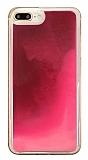 iPhone 7 Plus / 8 Plus Neon Kumlu Pembe Silikon Kılıf