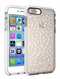 iPhone 7 Plus / 8 Plus Prizma Şeffaf Beyaz Silikon Kılıf