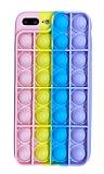 iPhone 7 Plus / 8 Plus Push Pop Bubble Sarı Silikon Kılıf