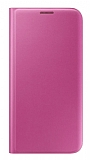 iPhone 7 Plus / 8 Plus Cüzdanlı Yan Kapaklı Pembe Deri Kılıf