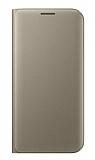 iPhone 7 Plus / 8 Plus Cüzdanlı Yan Kapaklı Gold Deri Kılıf