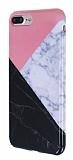iPhone 7 Plus / 8 Plus Granit Görünümlü Pembe Silikon Kılıf