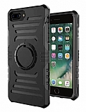 iPhone 7 Plus Kol Bandı Özellikli Ultra Koruma Siyah Kılıf