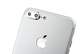 iPhone 7 Plus Silver Metal Kamera Lensi Koruyucu