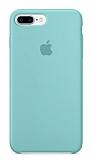 iPhone 7 Plus Orjinal Sea Blue Silikon Kılıf