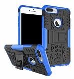 iPhone 7 Plus Süper Koruma Standlı Lacivert Kılıf
