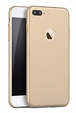 iPhone 7 Plus Tam Kenar Koruma Gold Rubber Kılıf