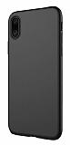 Dafoni Membrane iPhone X / XS Ultra İnce Mat Siyah Silikon Kılıf