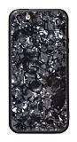 iPhone SE / 5 / 5S Desenli Silikon Kenarlı Siyah Rubber Kılıf
