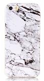 iPhone SE / 5 / 5S Granit Görünümlü Beyaz Silikon Kılıf