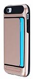 iPhone SE / 5 / 5S Kartl�kl� Ultra Koruma Rose Gold K�l�f