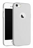 iPhone SE / 5 / 5S Kılıf Tam Kenar Koruma Rubber Silver Kılıf