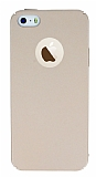 iPhone SE / 5 / 5S Tam Kenar Koruma Gold Rubber K�l�f