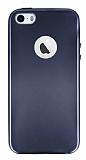iPhone SE / 5 / 5S Metalik Siyah Silikon Kılıf