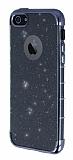 iPhone SE / 5 / 5S Simli Siyah Silikon Kılıf